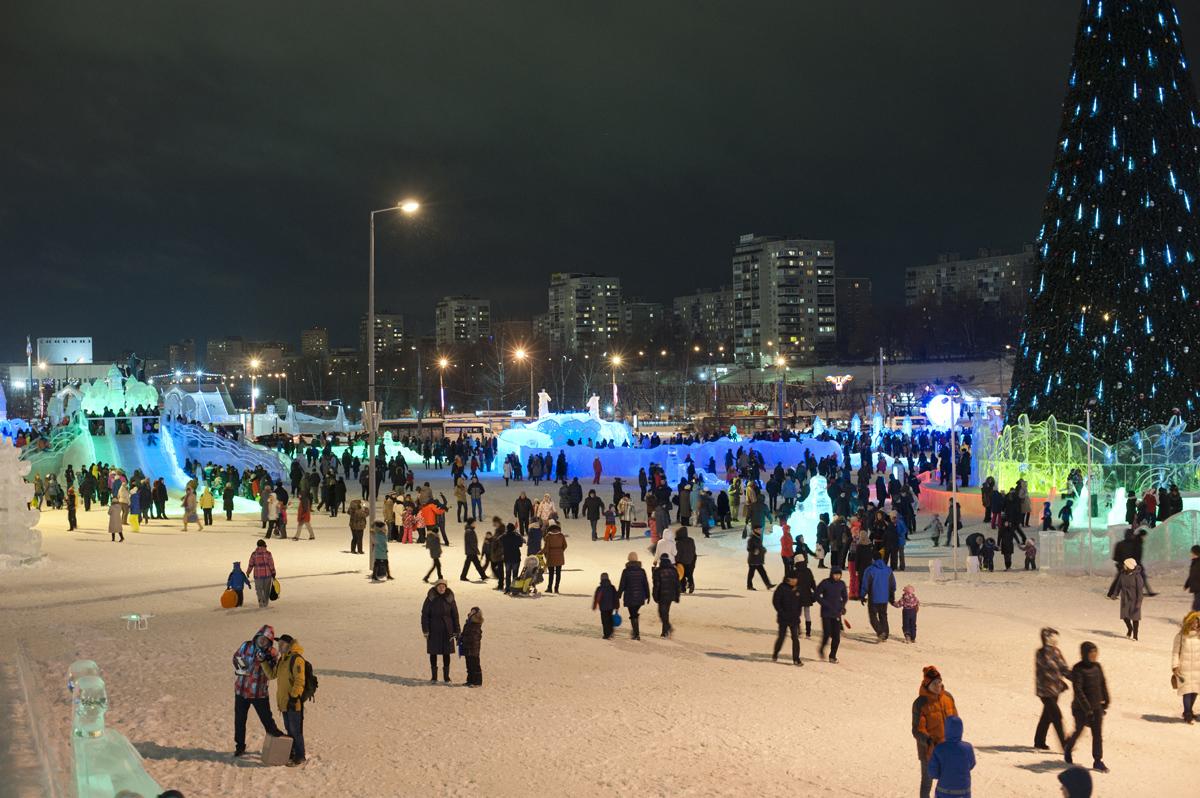 Ледовый городок наэспланаде вПерми назвали «Пермяч»