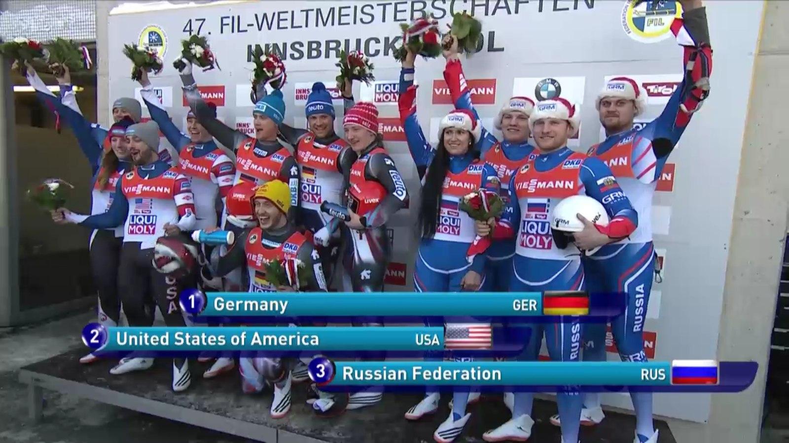 Сборная Российской Федерации посанному спорту— бронзовый призёр чемпионата мира вэстафете