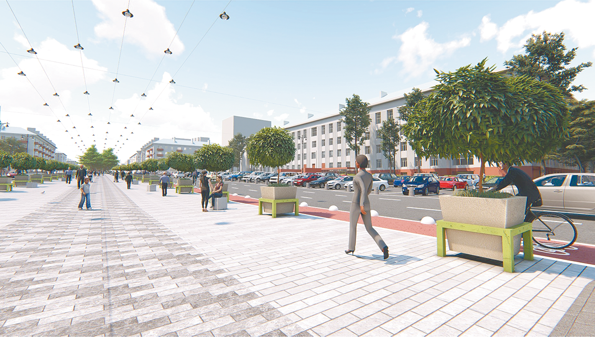 Октябрьскую площадь, по задумке архитекторов, необходимо открыть для  пешеходов. « dde5458832e