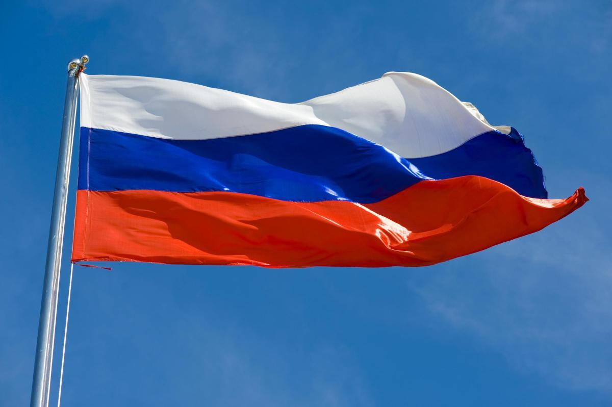 Флаг России - сине-бело-красный